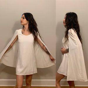 Nasty gal OG Angel cape cloak shift mini dress AOC